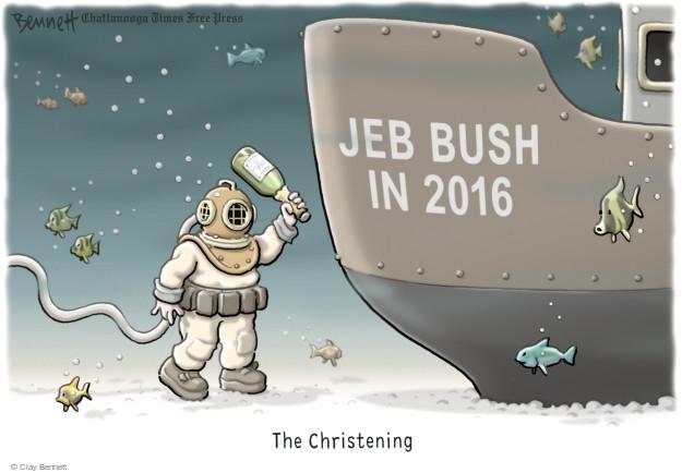 Cartoonist Clay Bennett  Clay Bennett's Editorial Cartoons 2015-06-12 former governor