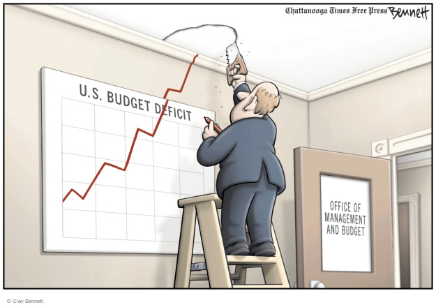 Clay Bennett  Clay Bennett's Editorial Cartoons 2008-11-08 budget deficit