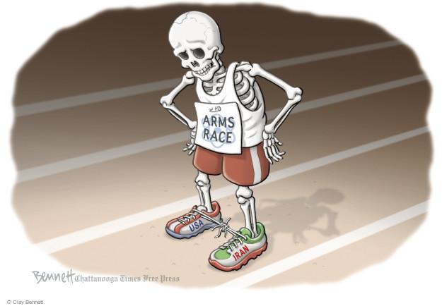 Cartoonist Clay Bennett  Clay Bennett's Editorial Cartoons 2015-07-15 nuclear weapon
