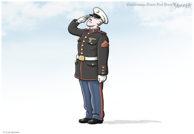 Cartoonist Clay Bennett  Clay Bennett's Editorial Cartoons 2015-07-23 Marines