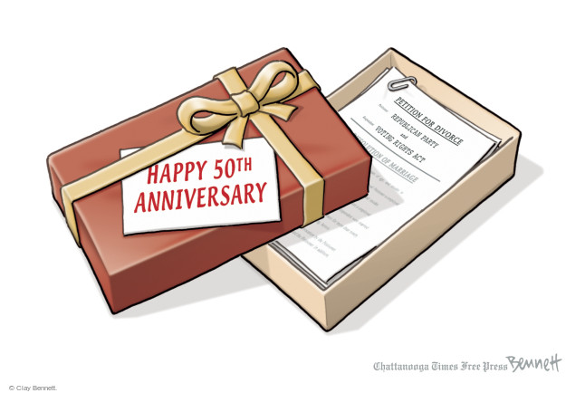 Clay Bennett  Clay Bennett's Editorial Cartoons 2015-08-10 voting rights