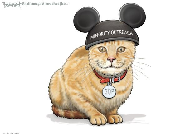 Cartoonist Clay Bennett  Clay Bennett's Editorial Cartoons 2015-08-14 Republican voter