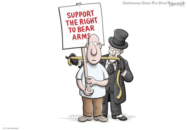 Cartoonist Clay Bennett  Clay Bennett's Editorial Cartoons 2015-08-27 second amendment