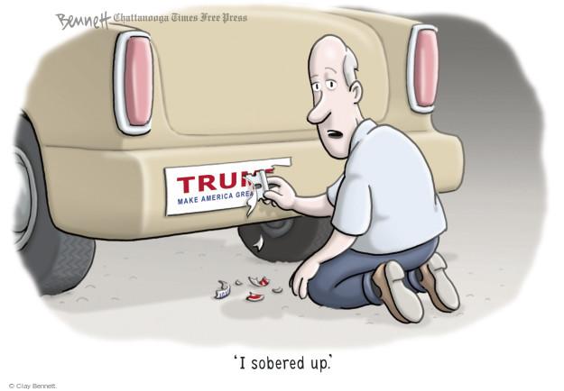 Cartoonist Clay Bennett  Clay Bennett's Editorial Cartoons 2015-08-28 Republican voter