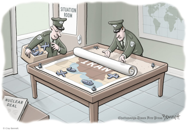 Cartoonist Clay Bennett  Clay Bennett's Editorial Cartoons 2015-09-14 nuclear weapon