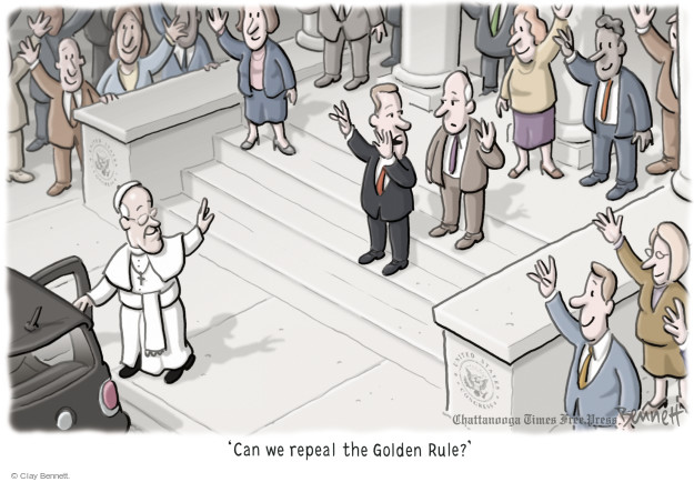 Cartoonist Clay Bennett  Clay Bennett's Editorial Cartoons 2015-09-25 religious