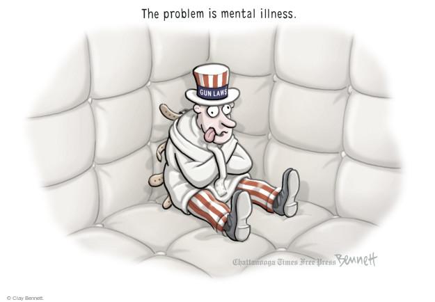 Cartoonist Clay Bennett  Clay Bennett's Editorial Cartoons 2015-10-05 gun rights
