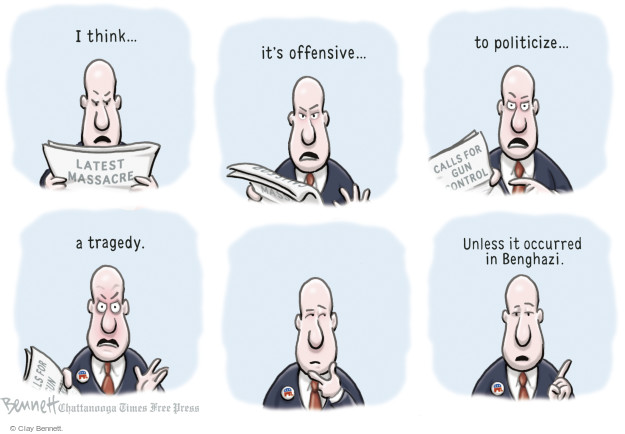 Cartoonist Clay Bennett  Clay Bennett's Editorial Cartoons 2015-10-08 weaponry