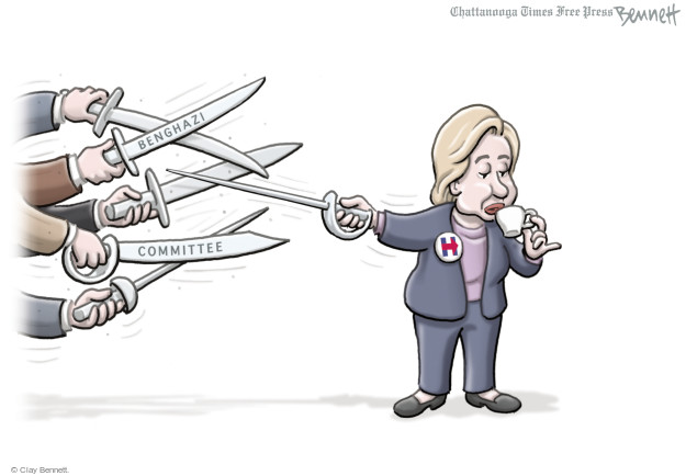 Cartoonist Clay Bennett  Clay Bennett's Editorial Cartoons 2015-10-23 congressional investigation