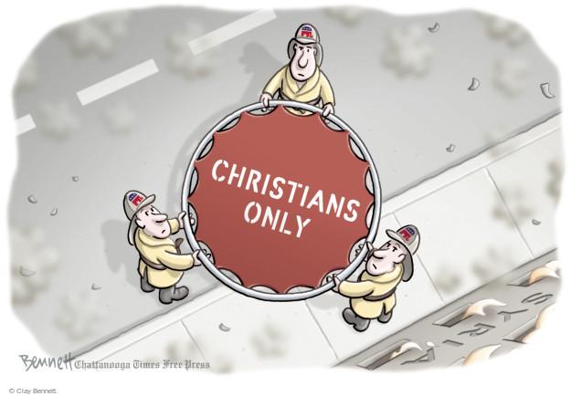 Cartoonist Clay Bennett  Clay Bennett's Editorial Cartoons 2015-11-18 religious