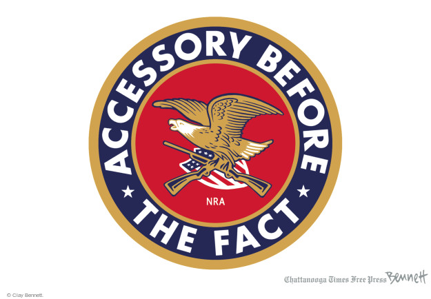 Cartoonist Clay Bennett  Clay Bennett's Editorial Cartoons 2015-12-04 rifle