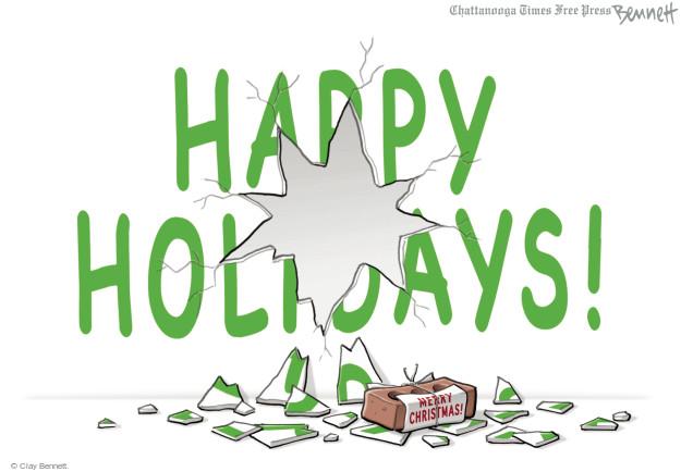 Clay Bennett  Clay Bennett's Editorial Cartoons 2015-12-18 religion