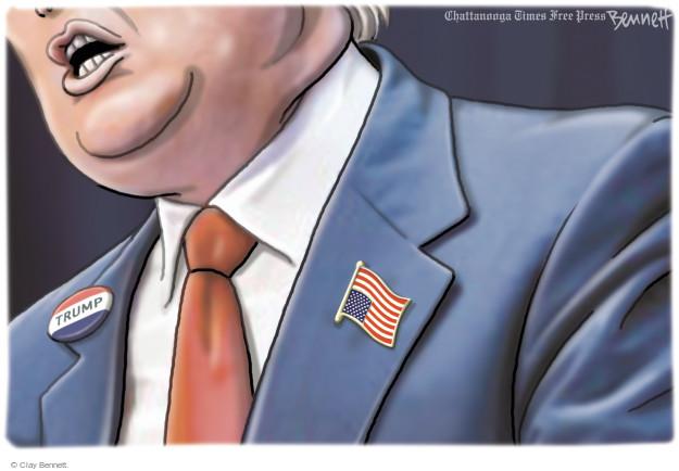 Cartoonist Clay Bennett  Clay Bennett's Editorial Cartoons 2015-12-29 American flag
