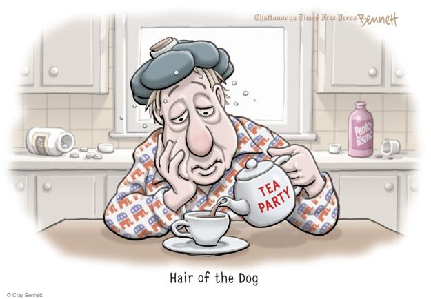 Cartoonist Clay Bennett  Clay Bennett's Editorial Cartoons 2016-01-04 Republican voter