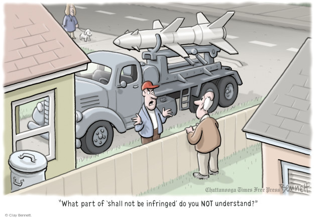 Cartoonist Clay Bennett  Clay Bennett's Editorial Cartoons 2016-01-07 gun rights