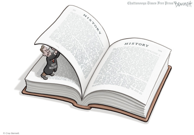 Cartoonist Clay Bennett  Clay Bennett's Editorial Cartoons 2016-01-08 history