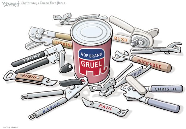 Cartoonist Clay Bennett  Clay Bennett's Editorial Cartoons 2016-01-25 former governor