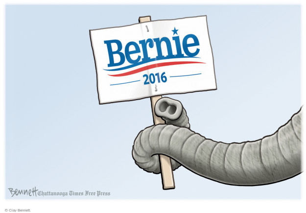 Clay Bennett  Clay Bennett's Editorial Cartoons 2016-01-28 Bernie Sanders