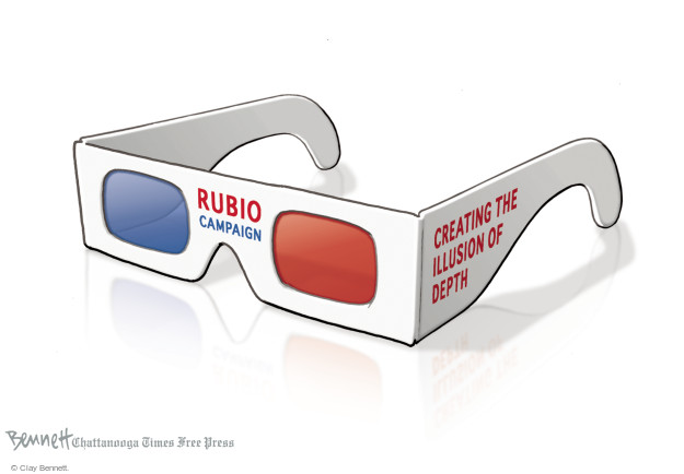 Clay Bennett  Clay Bennett's Editorial Cartoons 2016-02-09 3-D glasses