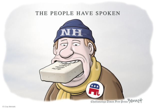 Cartoonist Clay Bennett  Clay Bennett's Editorial Cartoons 2016-02-10 primary election