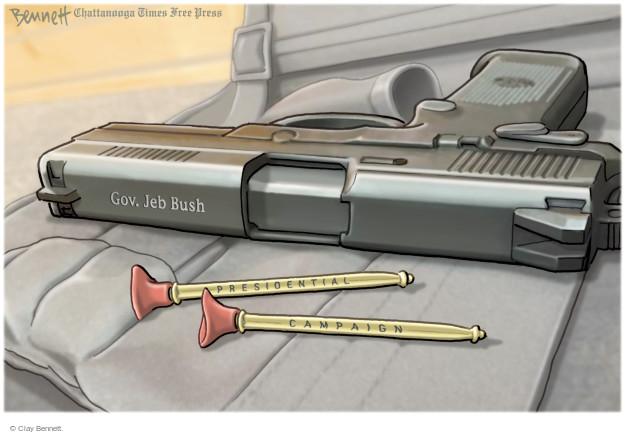 Cartoonist Clay Bennett  Clay Bennett's Editorial Cartoons 2016-02-22 bullet