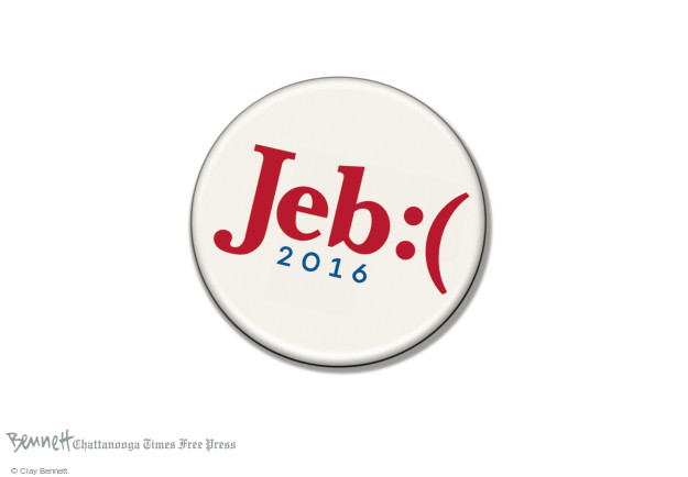 Clay Bennett  Clay Bennett's Editorial Cartoons 2016-02-23 2016 election Jeb Bush