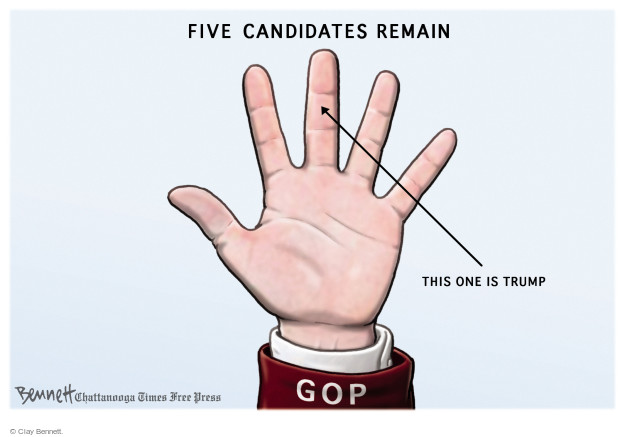 Cartoonist Clay Bennett  Clay Bennett's Editorial Cartoons 2016-02-26 primary election