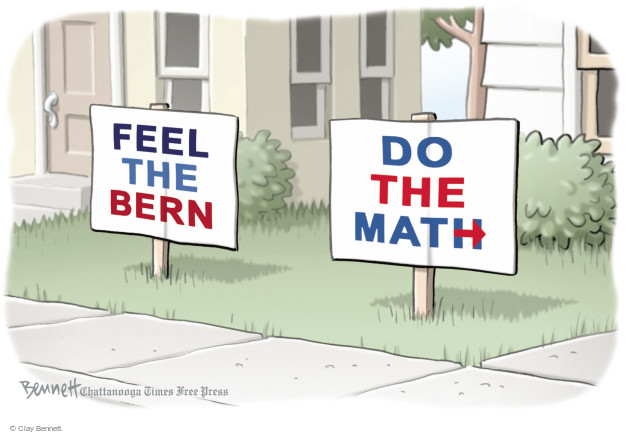 Clay Bennett  Clay Bennett's Editorial Cartoons 2016-04-06 2016 delegate math