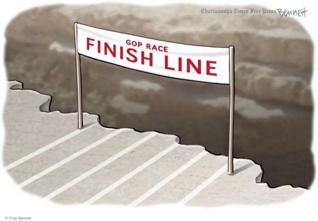 GOP Race Finish Line.