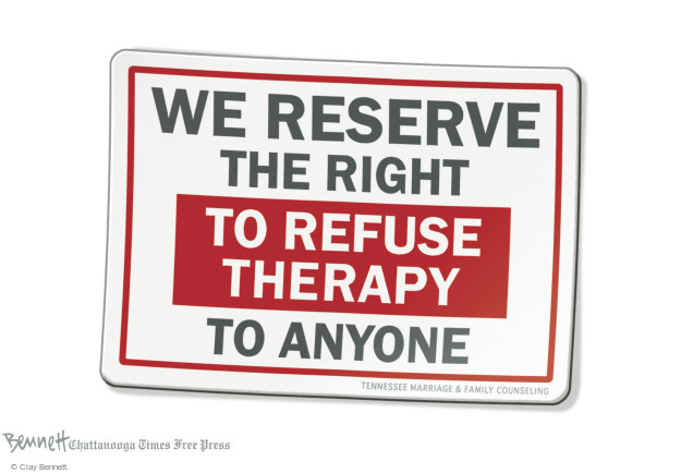We reserve the right to refuse therapy to anyone. Tennessee Marriage & Family Counseling.