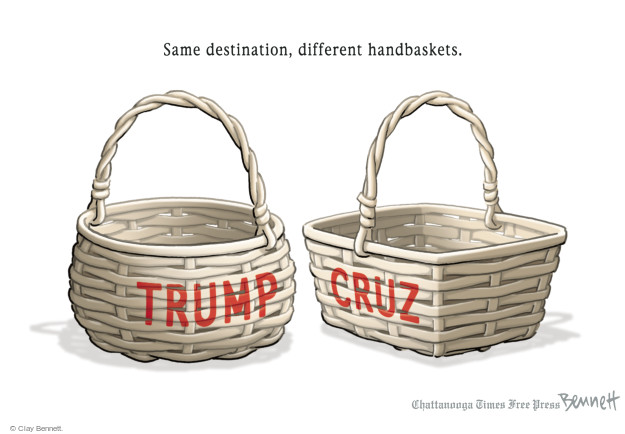 Clay Bennett  Clay Bennett's Editorial Cartoons 2016-04-15 hand