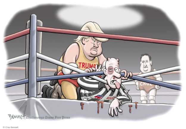 Clay Bennett  Clay Bennett's Editorial Cartoons 2016-04-19 boxing