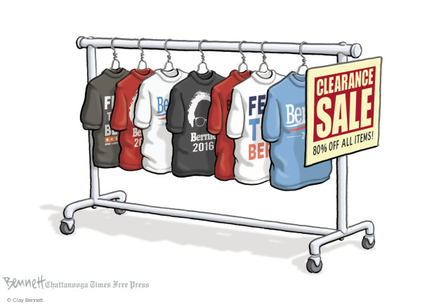Cartoonist Clay Bennett  Clay Bennett's Editorial Cartoons 2016-04-27 primary election