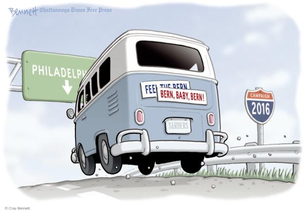 Clay Bennett  Clay Bennett's Editorial Cartoons 2016-05-03 road