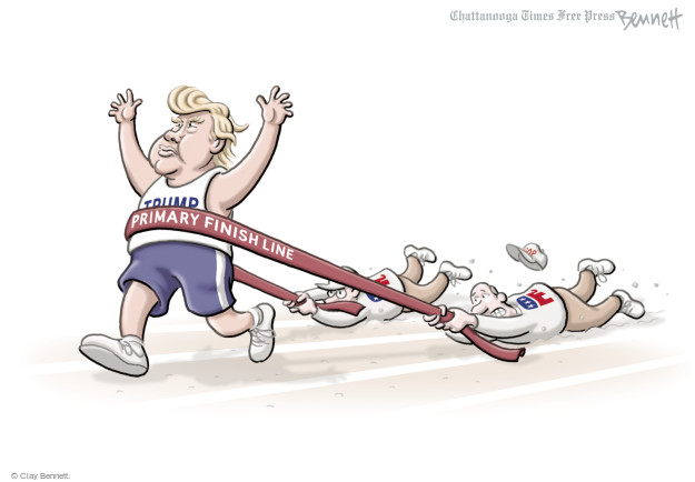 Cartoonist Clay Bennett  Clay Bennett's Editorial Cartoons 2016-05-31 primary election