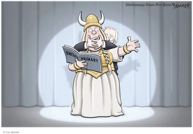Cartoonist Clay Bennett  Clay Bennett's Editorial Cartoons 2016-06-07 primary election