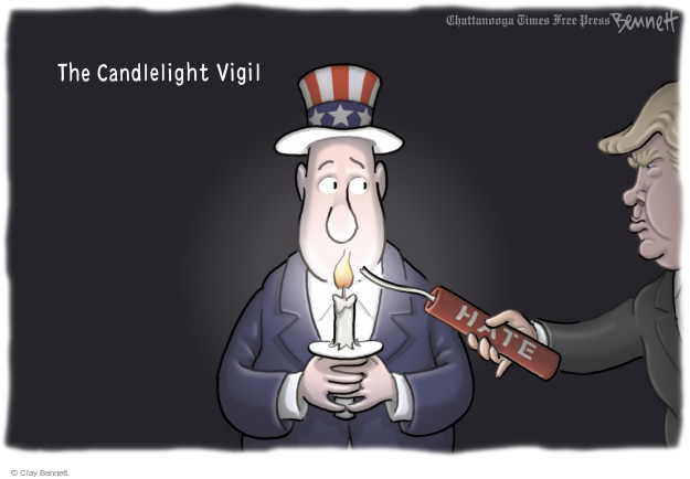 Cartoonist Clay Bennett  Clay Bennett's Editorial Cartoons 2016-06-14 religious
