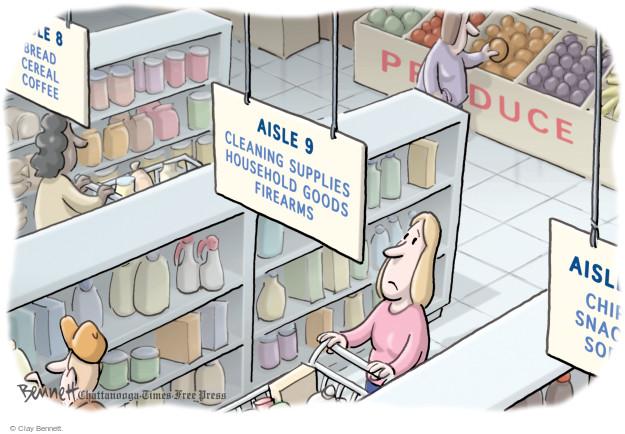 Cartoonist Clay Bennett  Clay Bennett's Editorial Cartoons 2016-06-15 gun rights