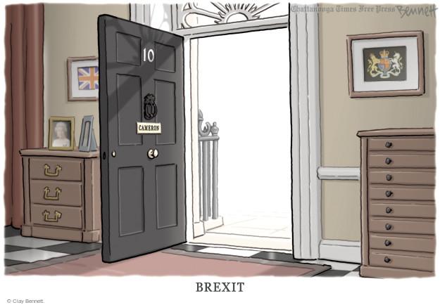 Cartoonist Clay Bennett  Clay Bennett's Editorial Cartoons 2016-06-27 Brexit
