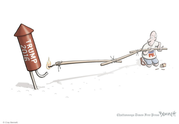 Clay Bennett  Clay Bennett's Editorial Cartoons 2016-07-05 firecracker