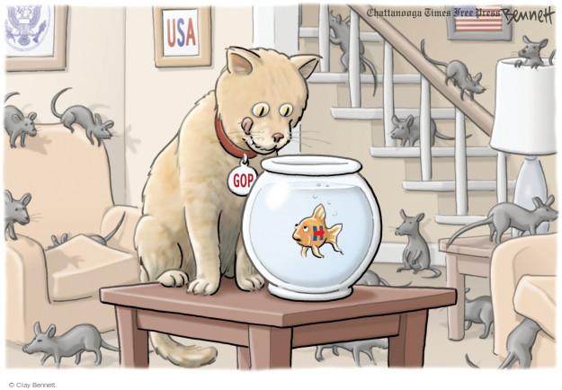 Cartoonist Clay Bennett  Clay Bennett's Editorial Cartoons 2016-07-12 state
