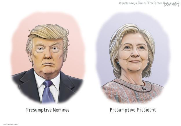Clay Bennett  Clay Bennett's Editorial Cartoons 2016-07-13 presidential election