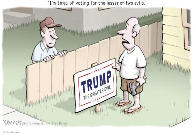 Cartoonist Clay Bennett  Clay Bennett's Editorial Cartoons 2016-07-14 Trump voter