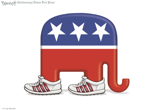 Cartoonist Clay Bennett  Clay Bennett's Editorial Cartoons 2016-07-19 shoe