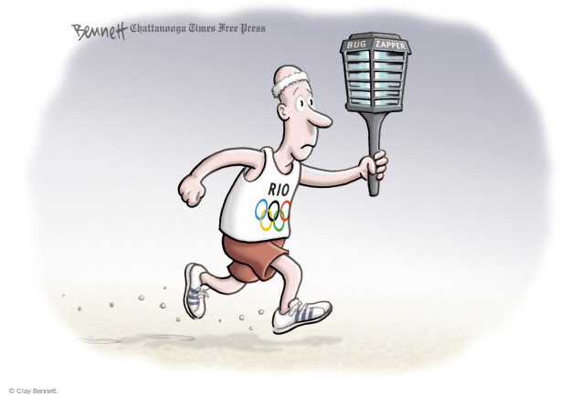 Cartoonist Clay Bennett  Clay Bennett's Editorial Cartoons 2016-08-05 Zika virus