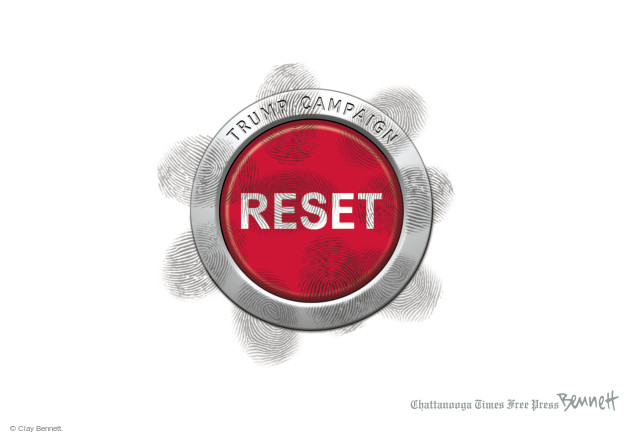 Cartoonist Clay Bennett  Clay Bennett's Editorial Cartoons 2016-08-09 button