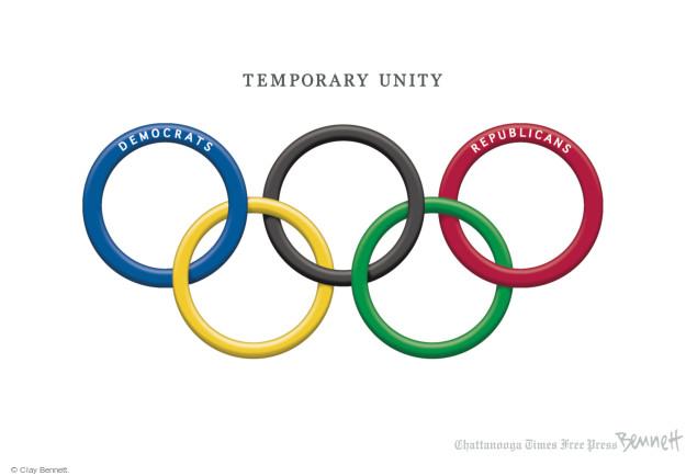 Temporary Unity. Democrats. Republicans.