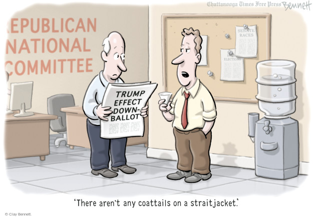 Republican National Committee. Trump Effect Down-Ballot. Senate races. Elections. There arent any coattails on a straitjacket.