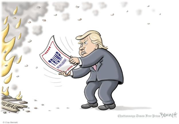 Clay Bennett  Clay Bennett's Editorial Cartoons 2016-08-17 Donald
