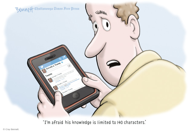 Clay Bennett  Clay Bennett's Editorial Cartoons 2016-08-31 social media politics